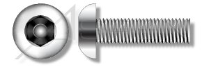 (2500pcs) 3/8-16 X 2-1/2 Tamper-Resistant Machine Screws Button Head Hex Socket Pin In, includes Insert Bit Stainless Steel Ships FREE in USA by Aspen Fasteners