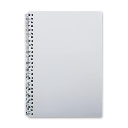 Hmg Duro de la Cubierta del Punto Notebook Vendaje semanal planificador de la Agenda Agenda Escolar Material Revistas Cuaderno de bocetos, Tamaño: A5 (14.8x21.3CM) (Square) (Color : Blank)