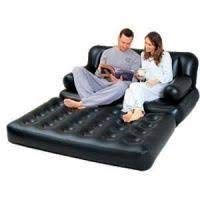 Veecap Creation 5 in 1 Plastic Inflatable Sofa Air Bed Couch with Electric Pump ( Multicolour)
