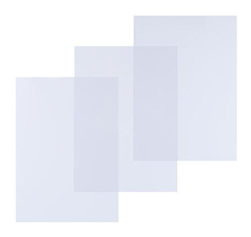 Pavo Box mit 100 Bindungsabdeckungen aus Polypro Matt 300 Mikron A4, nicht transparent / undurchsichtig