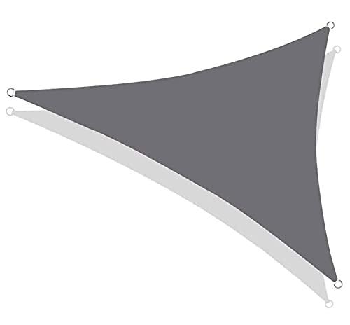 QI-CHE-YI para el Patio al Aire Libre, el Patio o la Piscina, Vela de sombrilla, con Anillo D de Acero Inoxidable, 90% de toldo Ultravioleta,5x5x5m