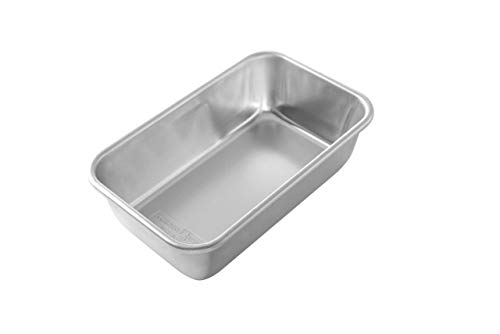 Natural Aluminum Commercial Loaf Pan, L: 9.00 in. W: 5.30 in. H: 2.75 in, Silver - 1