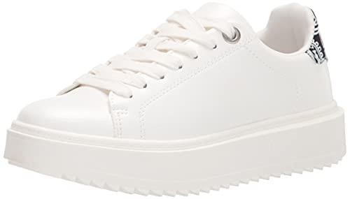 Steve Madden Women's Catcher Sneaker, Black Multi, 9.5