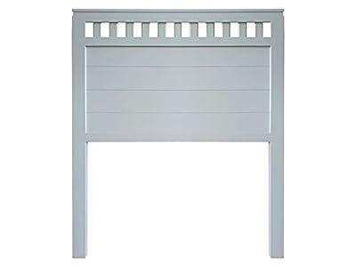 materiales: madera maciza de pino insigni medidas: 100 x 120 x 3 (ancho,alto,grueso) acabado: Azul Acero (en un tono muy claro y suave) cabecero de una pieza con anclajes para la pared