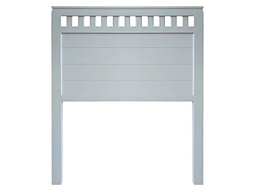 Muebles PEJECAR   Cabecero de Madera Bora, Acabado en Azul Acero, para Pared. para Camas de 150   Cabezal Madera Pino   Dormitorio Matrimonio (Cama 150 (160 cm))