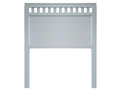 Muebles PEJECAR   Cabecero de Madera Bora, Acabado en Azul Acero, para Pared. para Camas de 180   Cabezal Madera Pino   Dormitorio Matrimonio (Cama 180 (190 cm))