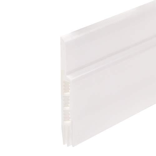 KUNHEV Zugluftstopper aus Silikon, Schalldämmung, Zugluftstopper, Dichtungsband, Windstopper (50 mm x 91 cm, weiß)