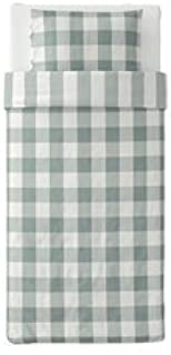 Ikea Emmie Ruta Duvet Cover ad Pillowcase Light Pink, White Full Queen (Twin, Green and White)