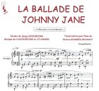 Partition : La ballade de johnny Jane - Piano et paroles