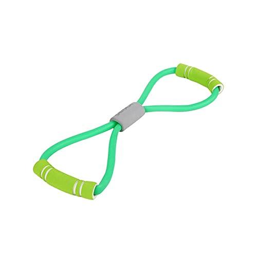 CZFSKCZ Correa de Yoga, Portátil elástico expansor de Caucho Cuerda Ejercicio Gimnasio Resistencia Muscular Bandas Pilates Yoga cinturón Deporte Mujeres Fitness Equipos (Color : Green)