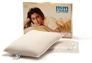 MM FOAM Rubber Twin Pillows (6 x 8, White)