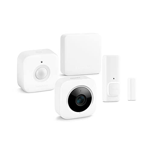 SwitchBot お帰りセット with Hub Miniセキュリティセット スイッチボットリモコン+開閉センサー+人感センサー+屋内カメラ