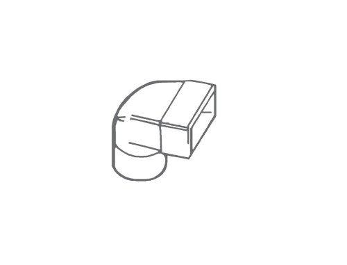 Manrose Low Profile Ellenbogen Bend Silikon Gummi Kühlmittel Rad Rohr