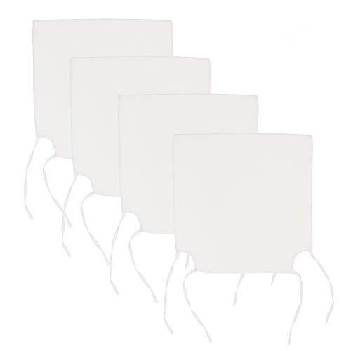 Arcoiris Cojines de Asiento y Silla, 40x40X5cm,Cojín Silla Acolchado, Cómodos, Resistentes, para Cocina, Cuarto, Sala, Jardín, Terraza, Patio (Pack 4 Cojines, Blanco) ⭐