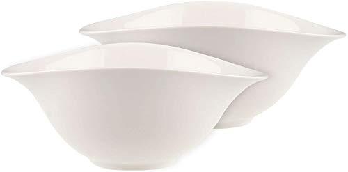 Villeroy & Boch Dune Vapiano Set di Insalatiere, 2 Pezzi, Porcellana Premium