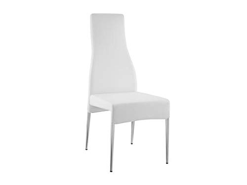 Graceful Eco-Leather Conference Chair in White and Chrome (Set of 2) Eco Leather Conference Chair