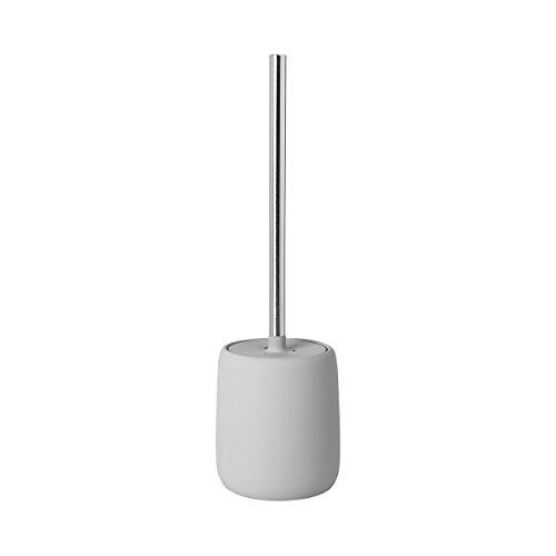 blomus Sono WC-Bürste, Keramik, Kunststoff, Silikon, Micro Chip, H 39 cm, Ø 11 cm