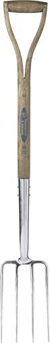 Spear & Jackson 4552BF Traditional Stainless Border Fork, Multi-Coloured