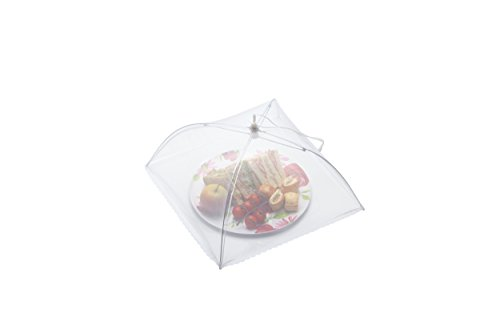 KitchenCraft KCCOVER12 Pop Up Mesh Food Cover Dome, White, 30.5cm