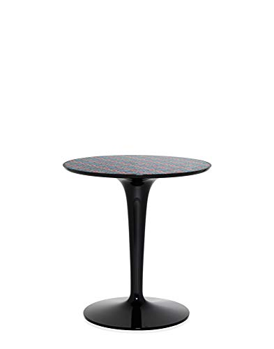 Kartell Tip Top La Double J Tavolino, Nero, 48.5x50 cm