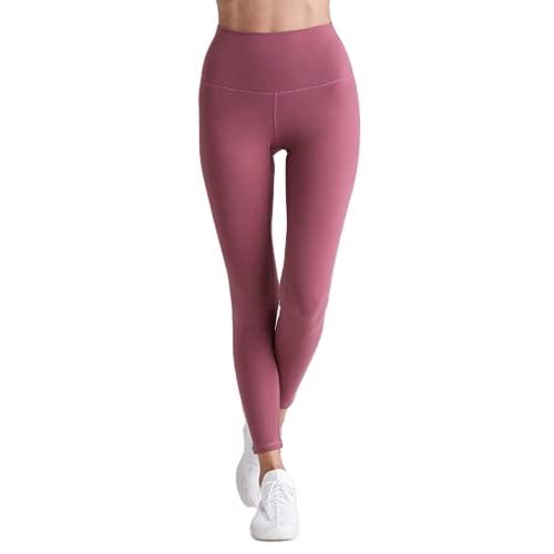 Pantalones de Yoga para Mujeres Desnudos Suaves Pantalones de Jogging de Secado rápido elásticos Pantalones de Fitness Anti-Sentadillas al Aire Libre Pantalones para Correr HS