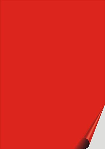 das-label Selbstklebende Vinylfolie rot | Outdoor glänzend | DIN A4 | zum Basteln Scrapbook | Vinylfolie zum Einlegen in Plotter | Sticker | Aufkleber | Markierungspunkte