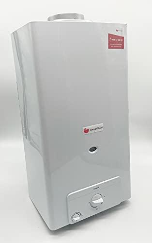 Calentador de agua a GAS NATURAL 11 Litros | Cámara abierta (Atmosférico) | Bajas Emisiones de NOX | Encendido Automático | Calificación Energética A