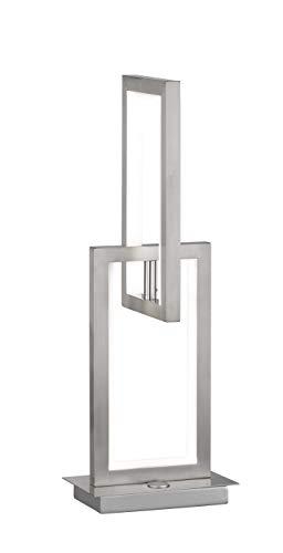 WOFI tafellamp, aluminium, 11 W, MURIEL, nikkel mat