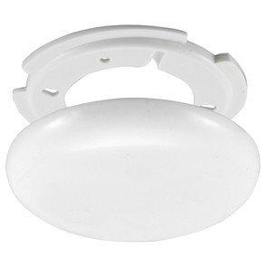 Globe Warehouse® Verteilerdose, weiß, superflach, Ø 130 Mit Montageset 2 Schrauben, 3 Loch Zugentlastung