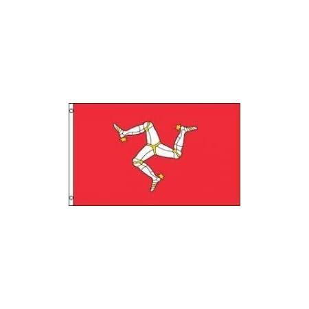 Amazon Com Az Flag Isle Of Man Flag 2 X 3 Manx English Flags 60 X 90 Cm Banner 2x3 Ft Garden Outdoor