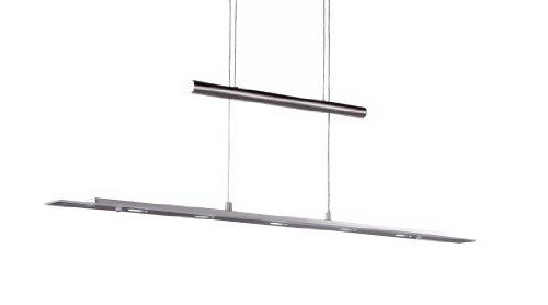 Wofi Pendelleuchte-Richmond, 5-flammig, Nickel-matt, Breite : 95 cm, Max. Abhängung : 150 cm, Höhenverstellbar, 7598.05.64.0000