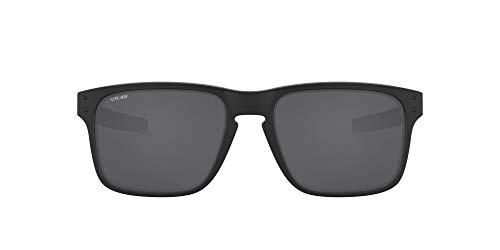 Oakley Men's OO9384 Holbrook Mix Rectangular Sunglasses, Matte Black/Prizm Black Polarized, 57 mm