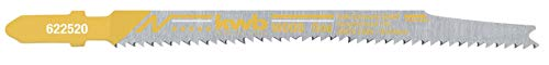 kwb 622520 2 x Spezial Stich-Sägeblatt für Holz S20 Einnocken-/ T-Schaft f. Platten-Werkstoffe, beidseitig Ausrissfrei, fein