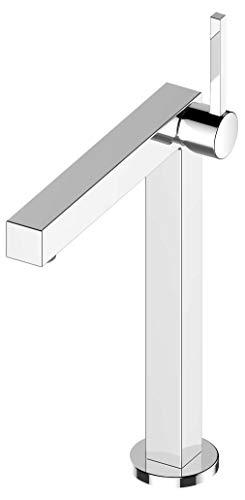 KEUCO Waschtisch-Armatur chrom für Waschbecken im Bad, Höhe 35,6cm, Einlochmontage, Design-Wasserhahn, Einhandmischer, Waschtischmischer, Edition 90