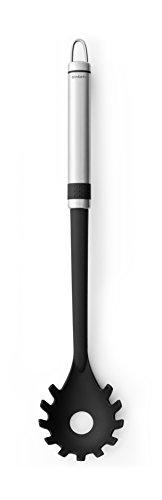 Brabantia 363641 - Cuchara de Espagueti, Acero y Nylon, Color Gris y Negro