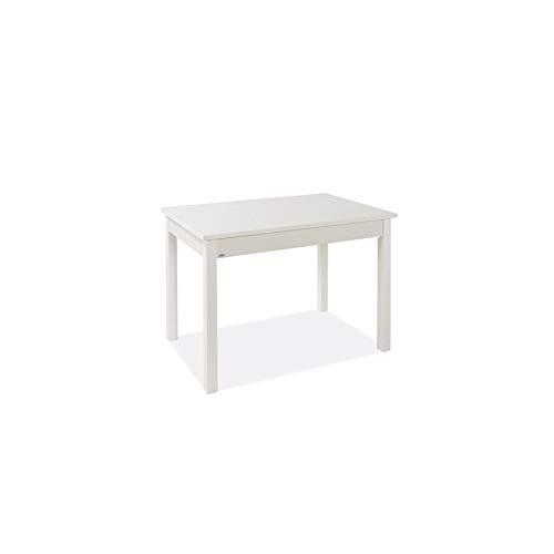 WEBMARKETPOINT Tavolo Pranzo Allungabile Bianco Frassinato Legno Nobilitato Cm 60x90/120