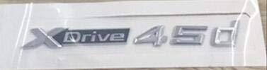 WanTo 50 Stück Neuwagen Styling 3D ABS Xdrive 20d 25d 28d 30d 35d 40d 45d 48d 50d Seitenabzeichen Emblem Aufkleber Für X3 E83 F25 X4 F26 X5 E70, Xdrive 45d