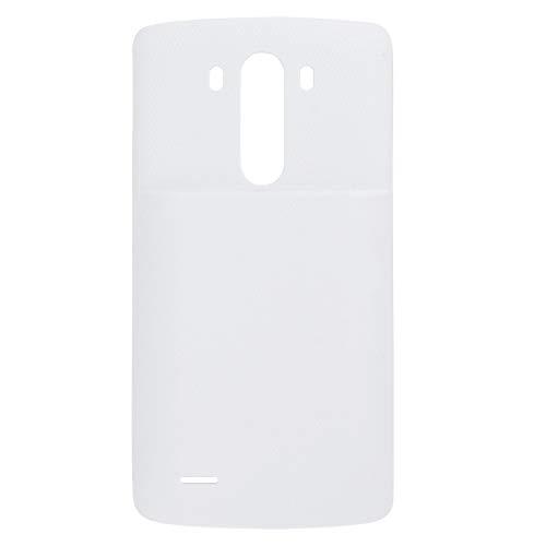 YAOLAN Piezas de Recambio Reemplazo de la Cubierta Posterior y de la batería de Litio-Ion de Recargable for LG G3 / D855 / VS985 / D830 Piezas de Recambio para LG (Color : Blanco)