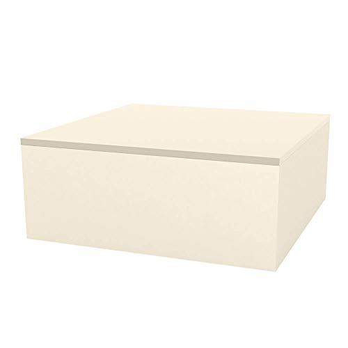 Vondom Quadrat Table Basse pour l'extérieur 80x80 h.32 cm cm écru