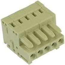 WAGO 734-105 TERMINAL BLOCK PLUGGABLE, 5POS, 28-14AWG (1 piece)