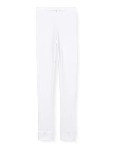 Marca Amazon - IRIS & LILLY Leggins Interiores Mujer, Pack de 2, Blanco (White), M, Label: M
