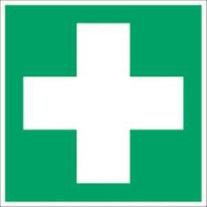 Schild Erste Hilfe gemäß ASR A1.3/ DIN ISO 7010 Kunststoff 20 x 20 cm (Rettungszeichen, Unfall) wetterfest