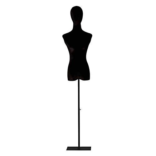 AJZGF Maniqui de Costura Modelo de la costurera, la Altura se Puede Ajustar, Cuatro Clases de la Base, un Modelo simulado de Terciopelo Negro maniqui Mujer (Color : C: Golden Triangle, Size : S)