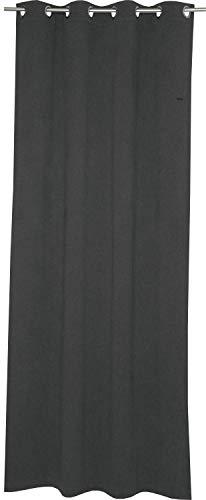 ESPRIT Ösen Vorhang grau Blickdicht • Gardinen Vorhang 2er Set • Ösenschal 140 x 250 cm Harp • 100% Polyester