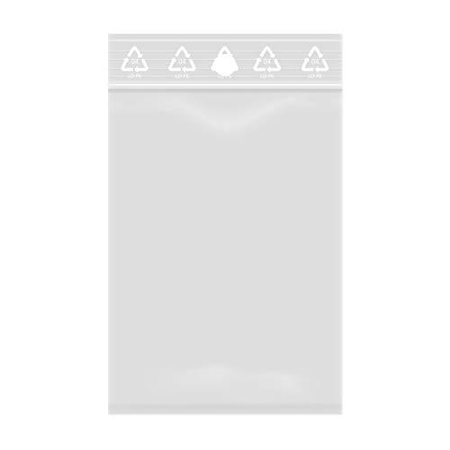 Lot de 1000 Sachets à fermeture Zip Transparent - Plastique compatible Alimentaire (4 x 6 cm)
