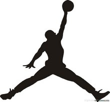 Aufkleber, Motiv Michael Jordan Basketball