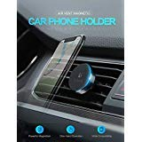 FLOVEME Universal Mini Car Phone Holder 360 Degree Rotatable Magnetic Air Vent Mount Car Holder Magnetism Mobile Phone Holder (Rose Gold)