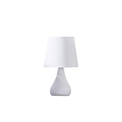 liushop Lámpara Escritorio Dormitorio Lámpara de Mesa Princesa Luz cálida Lámpara de Mesa Protección Ocular Luz de Noche de Carga Lámpara de Noche Lampara de Lectura (Color : White Large)