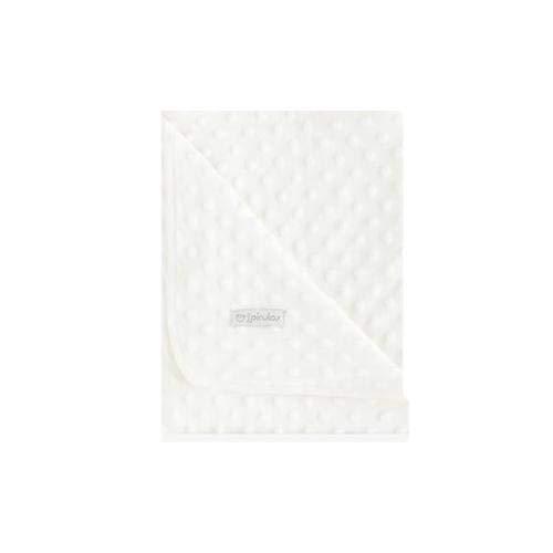 Pirulos 64005102 - Manta doble cara, 80 x 110, diseño dots, color crudo