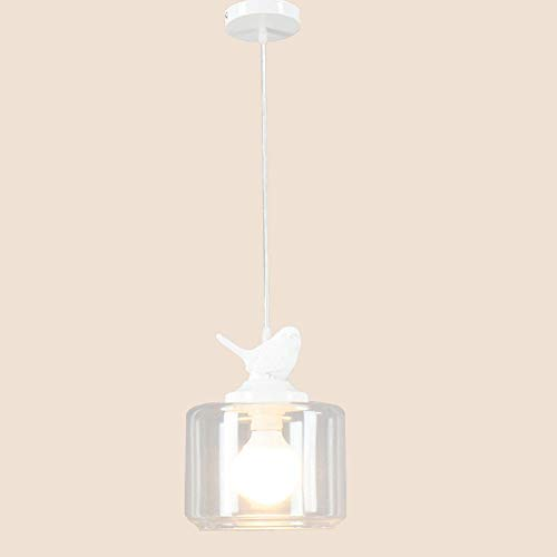 Aaedrag Cabeza plexiglás Comedor araña nórdica Creativa pájaro Colgando iluminación de Techo único Restaurante luz Barra de lámparas Colgante luz Colgante Linterna